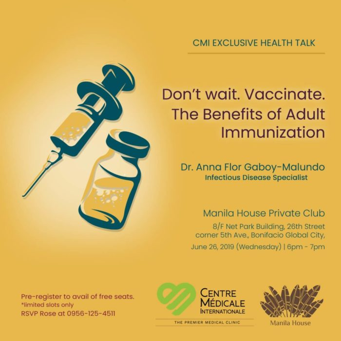 DON'T WAIT, VACCINATE: The benefits of adult immunization