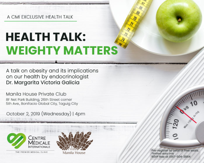 HEALTH TALK: WEIGHTY MATTERS